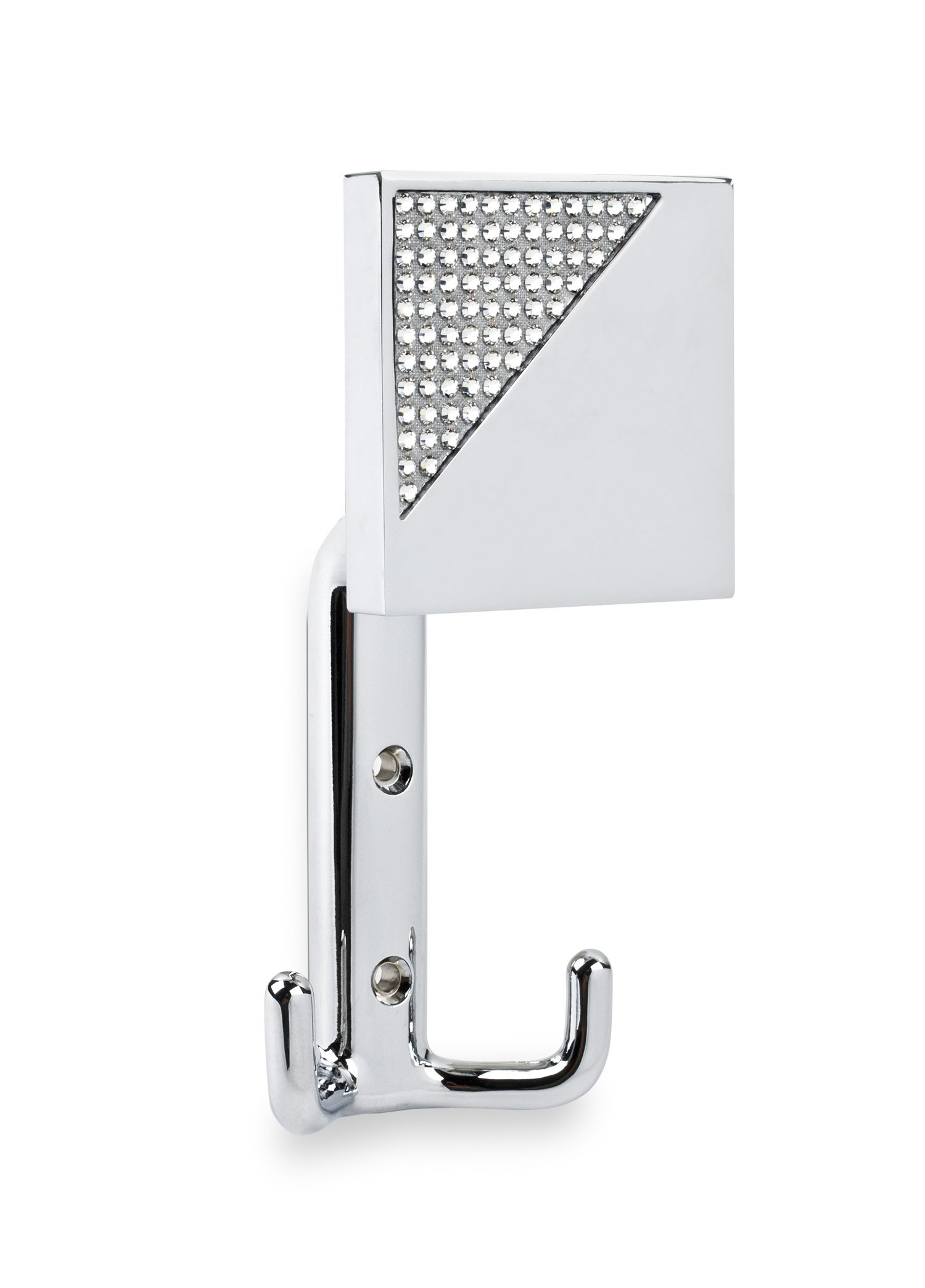 TOPEX HARDWARE P2040CRLSWA TOPEX HARDWARE P2040CRLSWA Robe and Towel Hook with Corner Crystals, Bright Chrome, , Bright Chrome