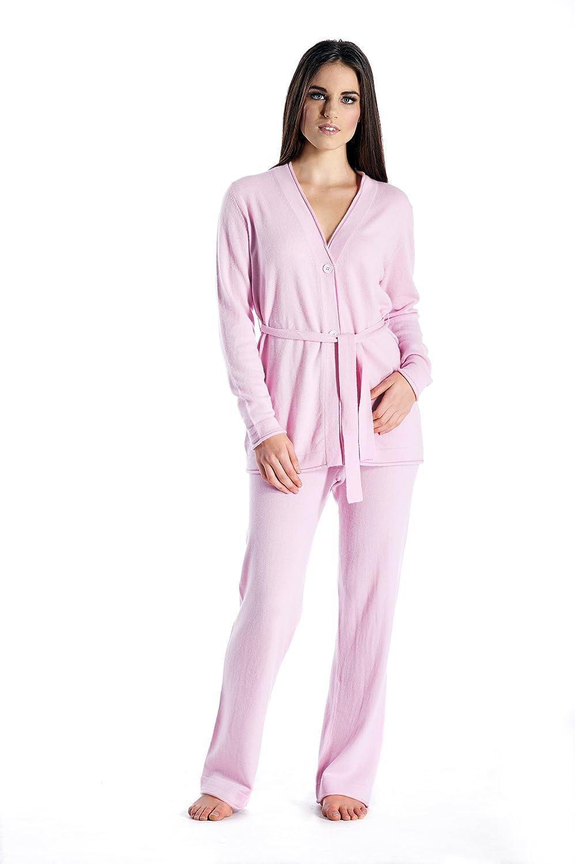 Cashmere Boutique 100/% Pure Cashmere Lounge and Pajama Set for Women 7 Colors, 2 Sizes
