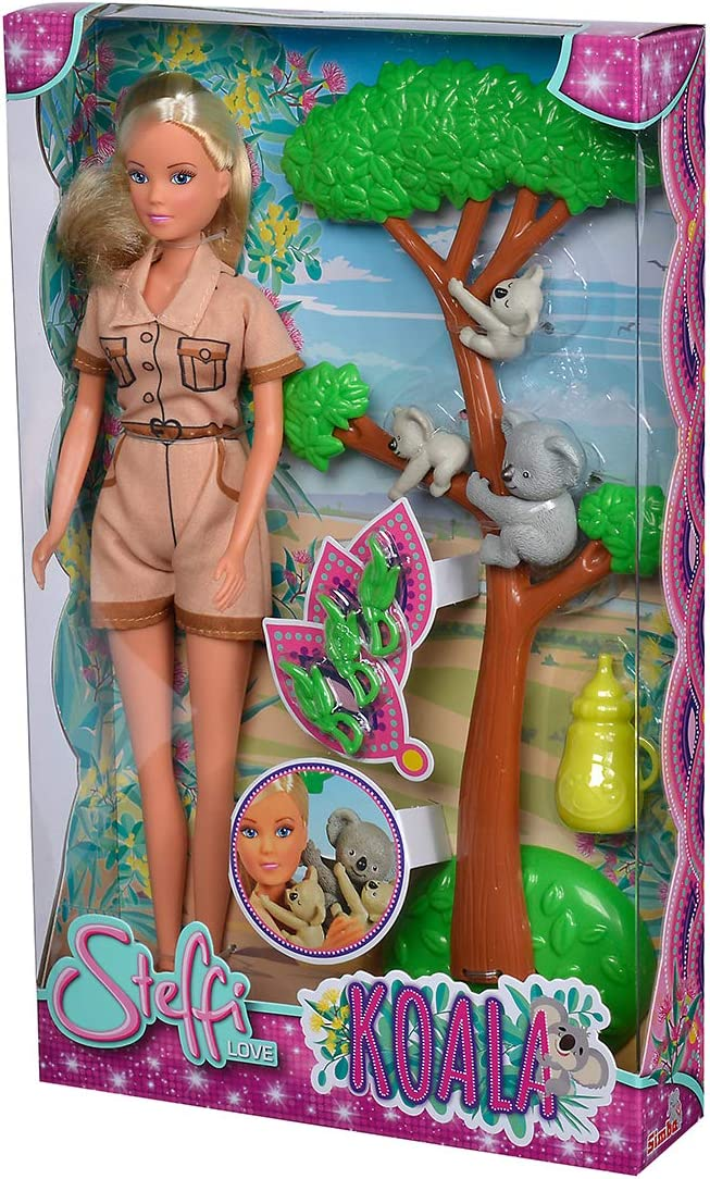Simba Steffi Love Koala - Muñeca con árbol de Escalada, Comida y Botella
