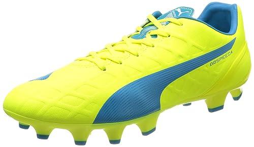 best service 58d0e 43dfe Puma evoSPEED 4.4 FG, Chaussures de football homme, Jaune (Safety  Yellow Atomic