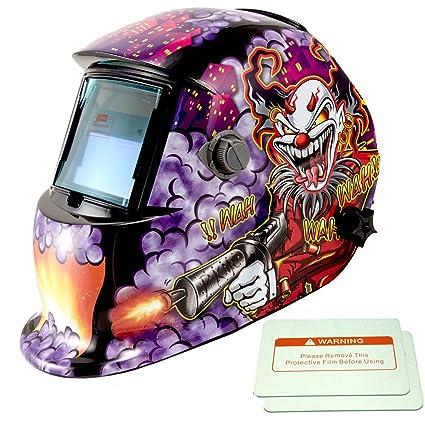 iMeshbean Pro Cool colorido payaso estilo Solar oscurecimiento automático de soldadura y desbaste casco + 2