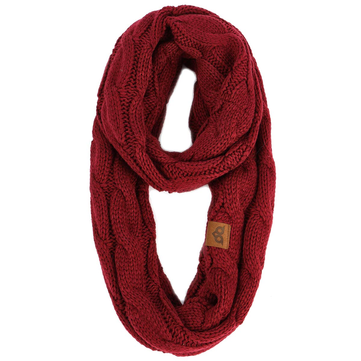 YOOWL Winter Long Circle Scarves Thick Ribbed Cable Knitted Infinity Warm Loop Scarves YOUS40