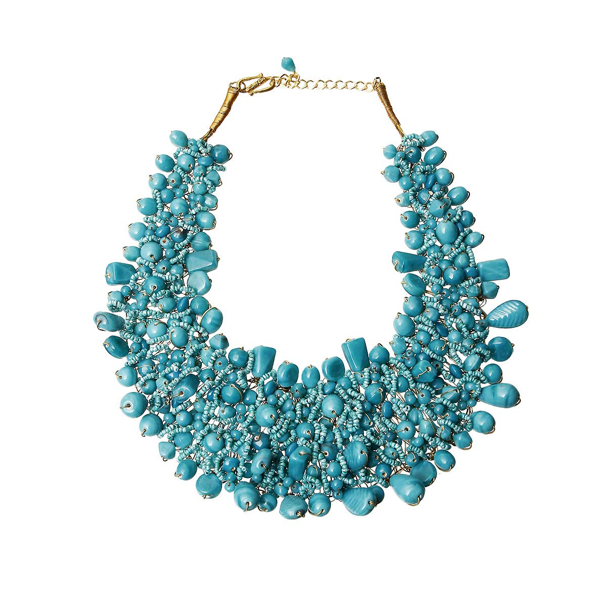 ChiqueTrendz Bead and Copper Bib Necklace