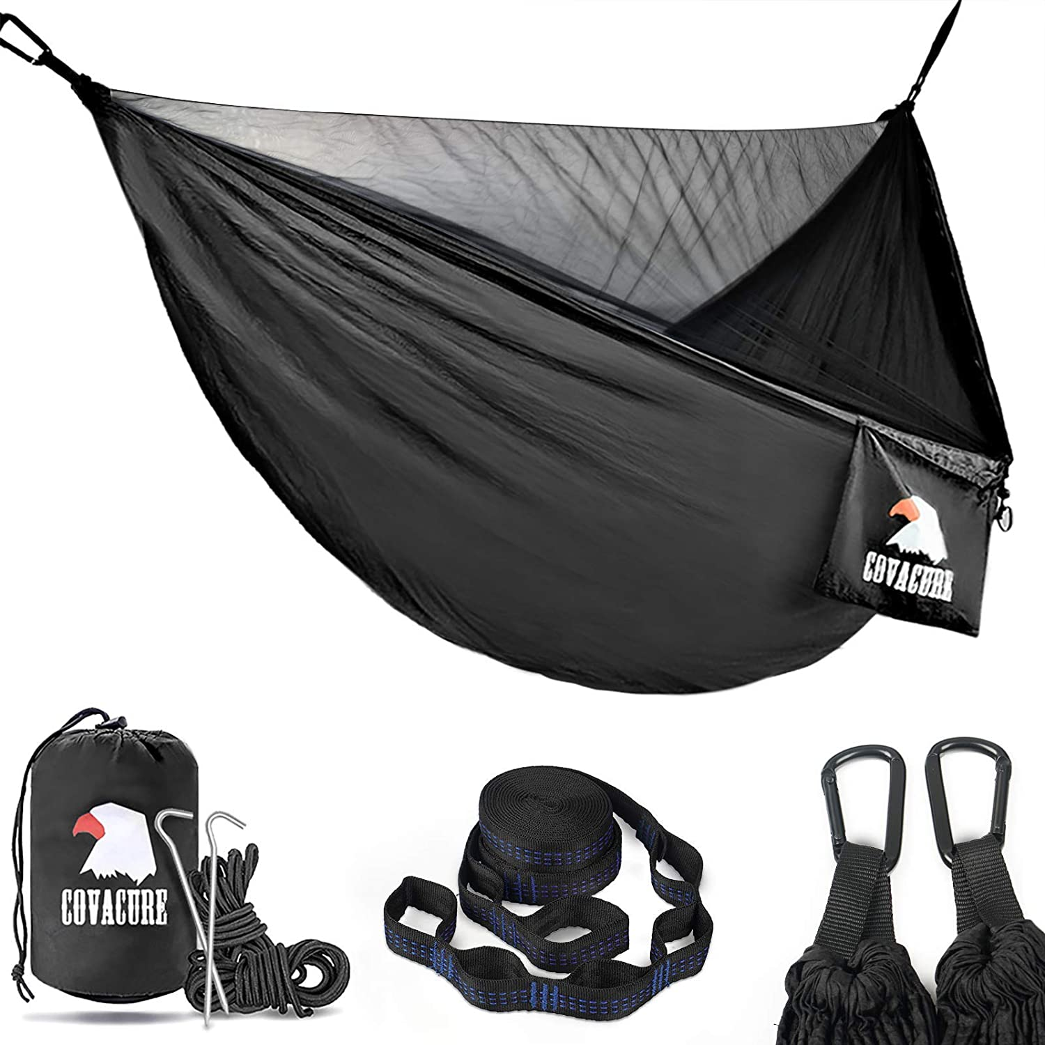 Covacure Camping Hammock with Net