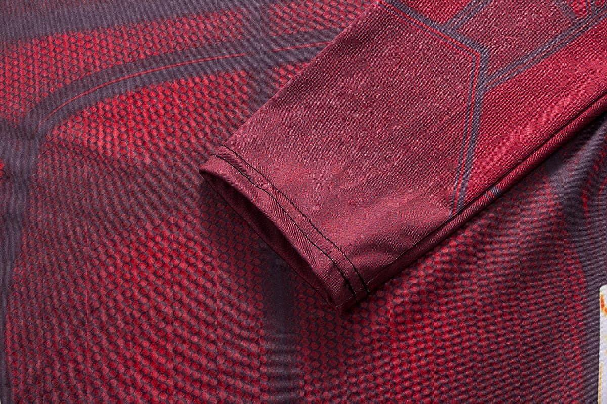 M Cody Lundin Impreso Manga Larga Camiseta Ropa Interior Femenina Camiseta Fitness Deporte se/ñoras Camisas Rayo h/éroe Insignia Las