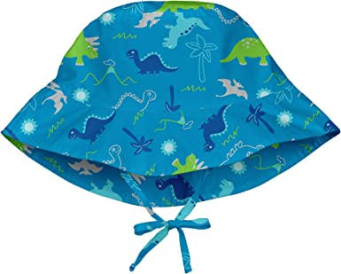 I-Play Green Sprouts Bucket Sun Protection Hat Pink Hawaiian Turtle 0-6 Months
