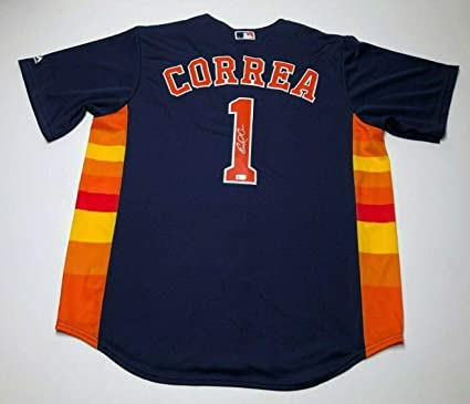newest collection 4fc71 e2732 Signed Carlos Correa Jersey - *17 WS Champs* COA ...
