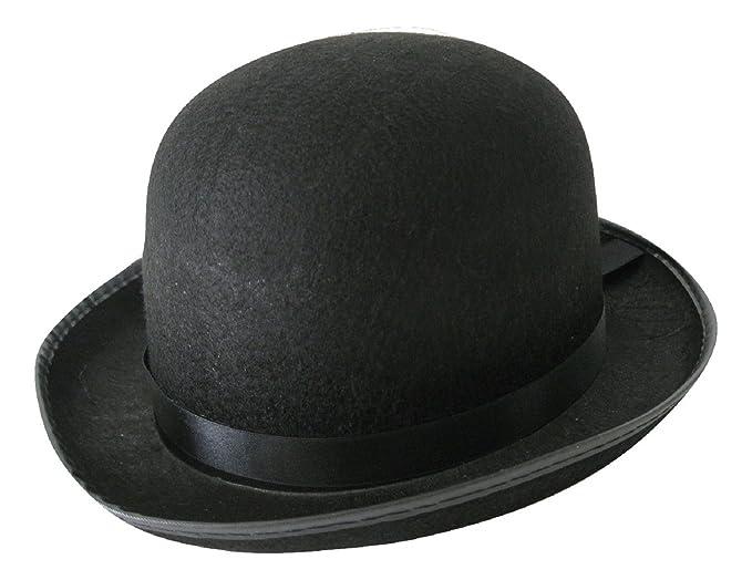 1e892947f59 MyPartyShirt Men s Roaring 20 s Black Felt Derby Light Bowler Top ...
