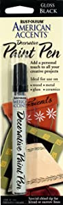 Rust-Oleum 222643 American Accents Gloss Decorative Paint Pen, Black, 1/3-Ounce