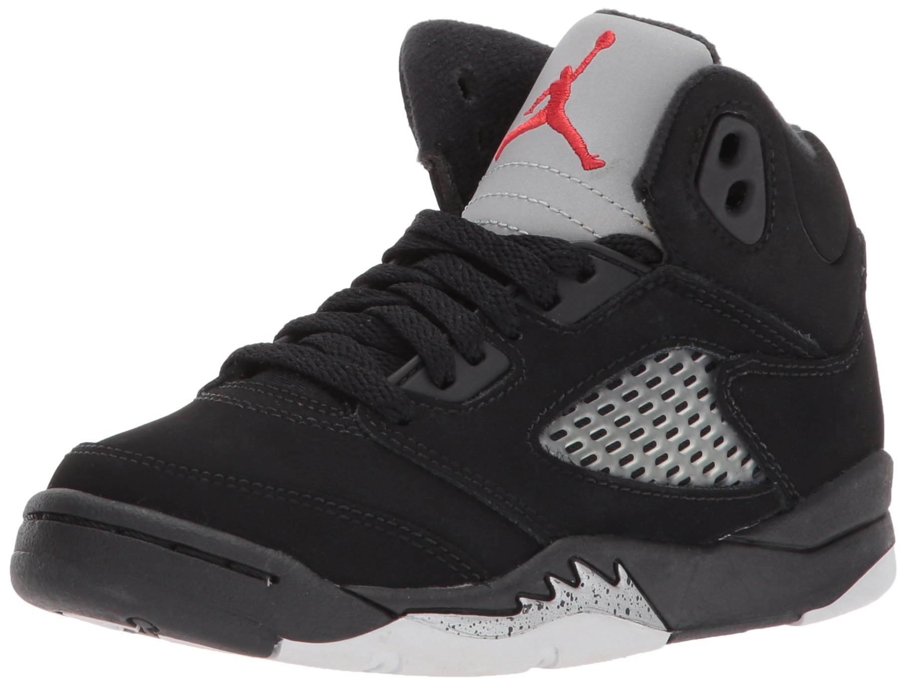 Air Jordan 5 Retro PS Black Metallic Silver Fire Red 440889-003 US 2y