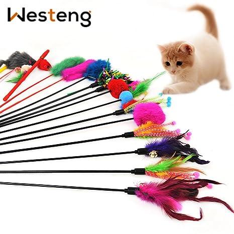 Westeng 4 Bacchette Da Gioco Per Gatti Gioco Interattivo Divertente