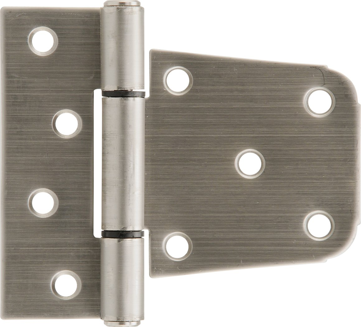 The Hillman Group The Hillman Group 853354 3-1/2'' Heavy Duty T-Hinge - Stainless Steel - For 2x4 or 4x4 Post Applications 1-Pack