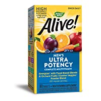Nature's Way Alive! Once Daily Men's Multivitamin, Ultra Potency, Food-Based Blends...
