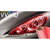 VViViD Air-Tint Headlight/Tail Light Window Tint (12' x 48', Red)