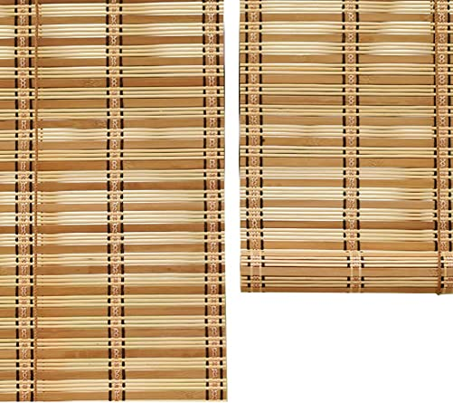 Roll Up Blinds 50 Sun Shade Roller Blinds, Bamboo Perfect for Porch Patio Balcony, Easy to Install Size 135 175cm