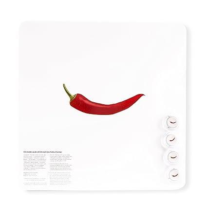 Dresz Pizarra magnética Pepper, Tinplate, White de Red, 29 x ...