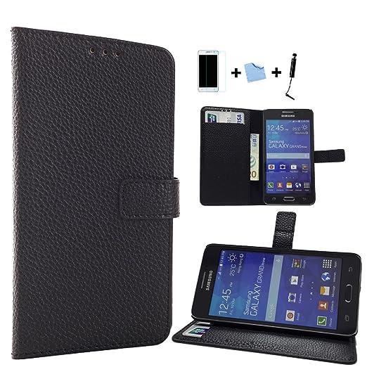 157 opinioni per Aeontop 4 en 1 Custodia Flip Cover Pelle Stand Rigida per Samsung Galaxy Grand
