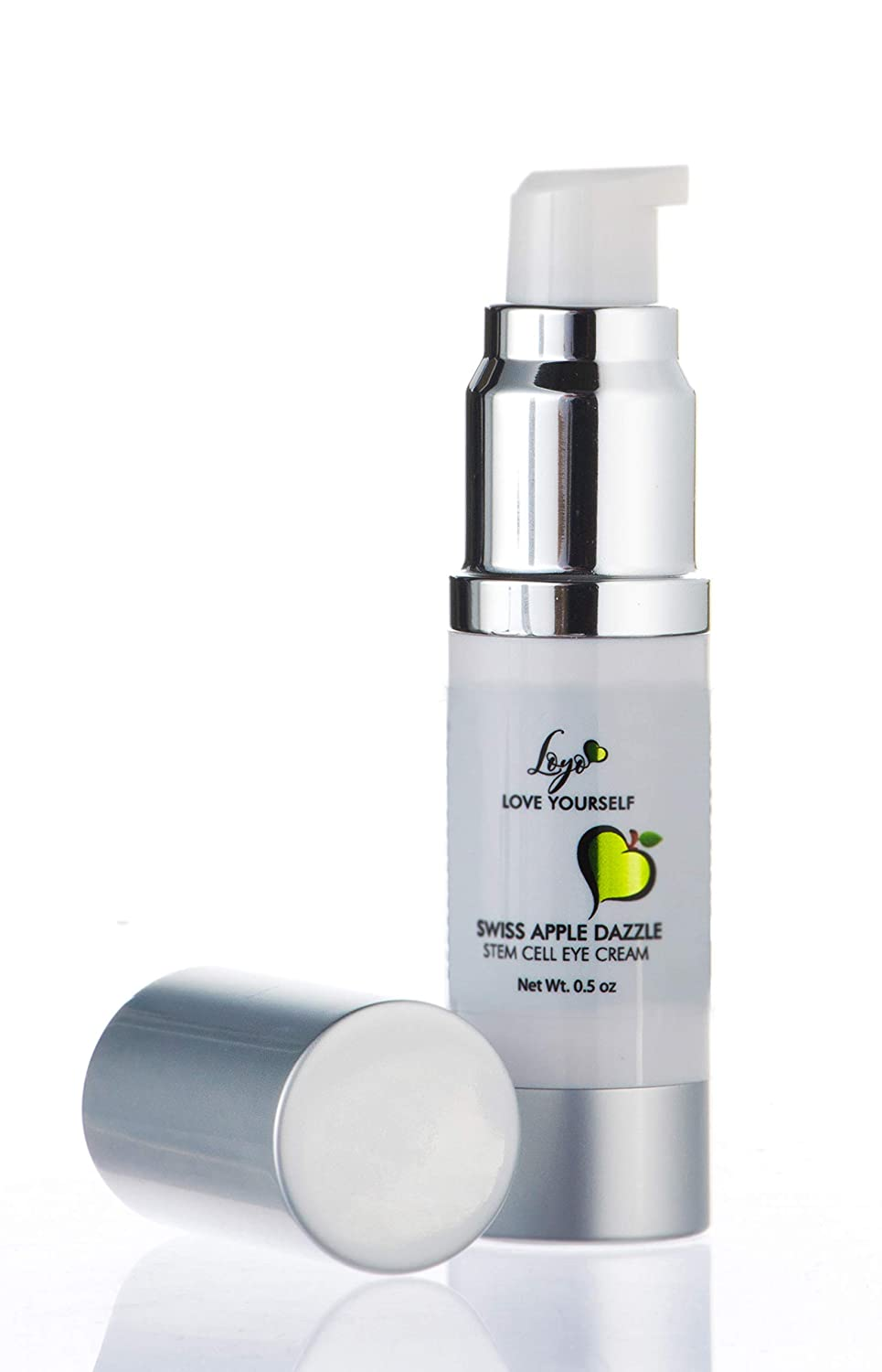 SWISS APPLE STEM CELL EYE CREAM - Anti-aging under eye treatment for wrinkles, fine lines, crows feet, dark circles, bags & puffiness - for men & women - with Malus Domestica, antioxidants & retinol.