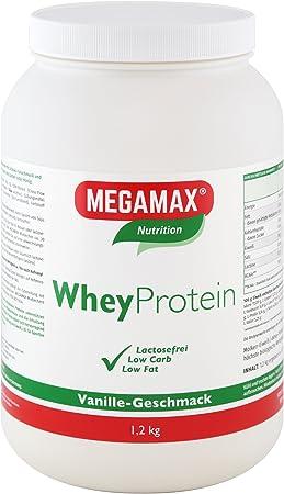 MEGAMAX - Whey Protein - Bebida a partir de suero de leche - Sin lactosa - Vainilla - 1200 g