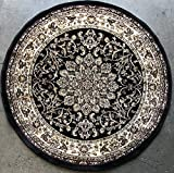 High quality round heat-set quality area rug that is made to last for years to come. Very durable and lays flat on any surface. Made of 100 %polypropylene. Made in Turkey.