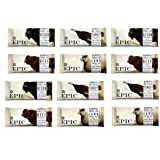 Epic All Natural Meat Bar, 100% Grass Fed, Bison, Variety Sampler Pack, 1.5 ounce bar, 12 count