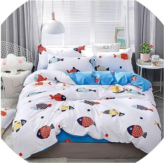 M /& M Cartoon QUEEN SIZE ORANGE Color BED SHEET 4PCS COTTON Bedding SET