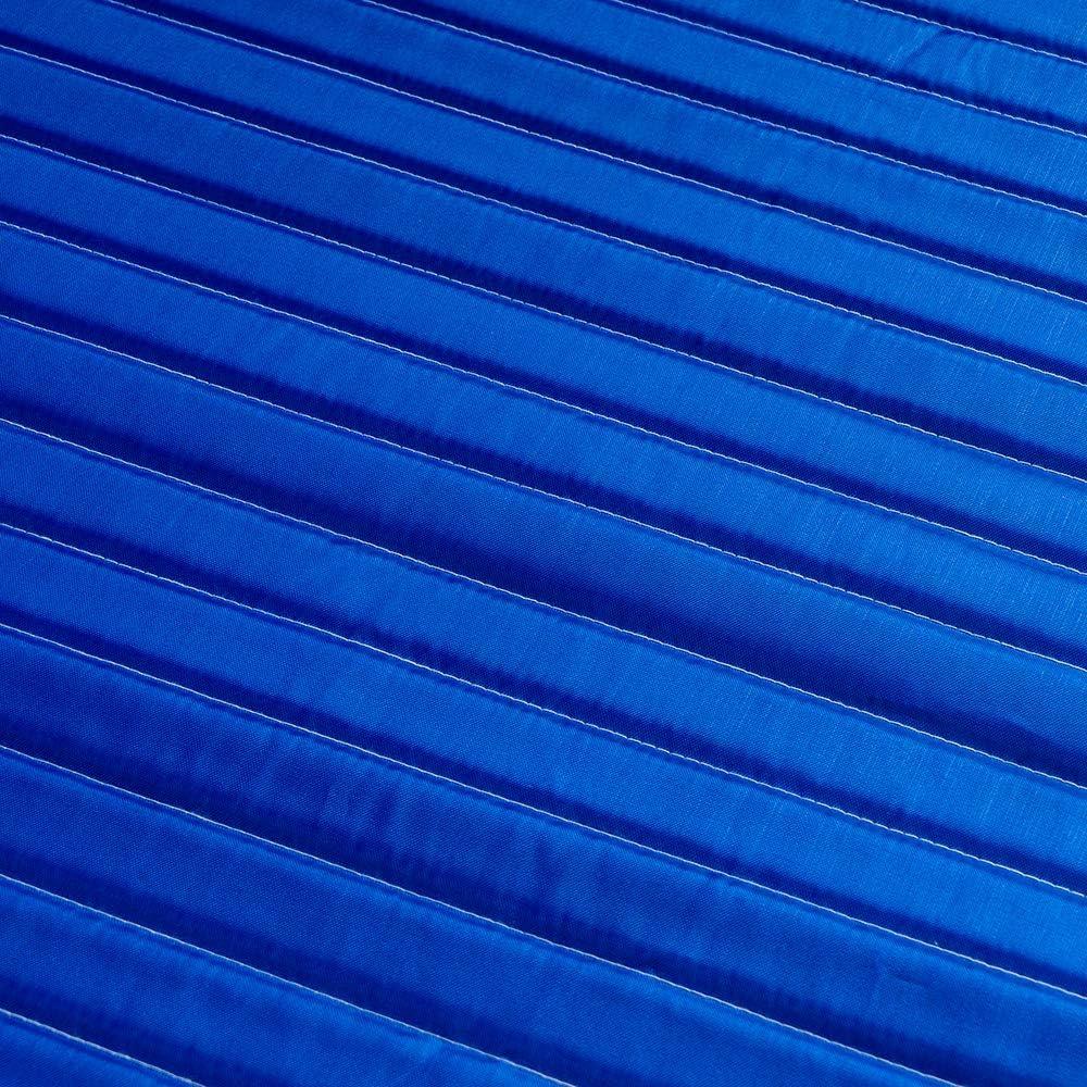Perfetto per Mare Enrico Coveri Stuoia Prendisole da Spiaggia con Cuscino Poggiatesta E Tessuto Imbottito Blu Giardino e Campeggio