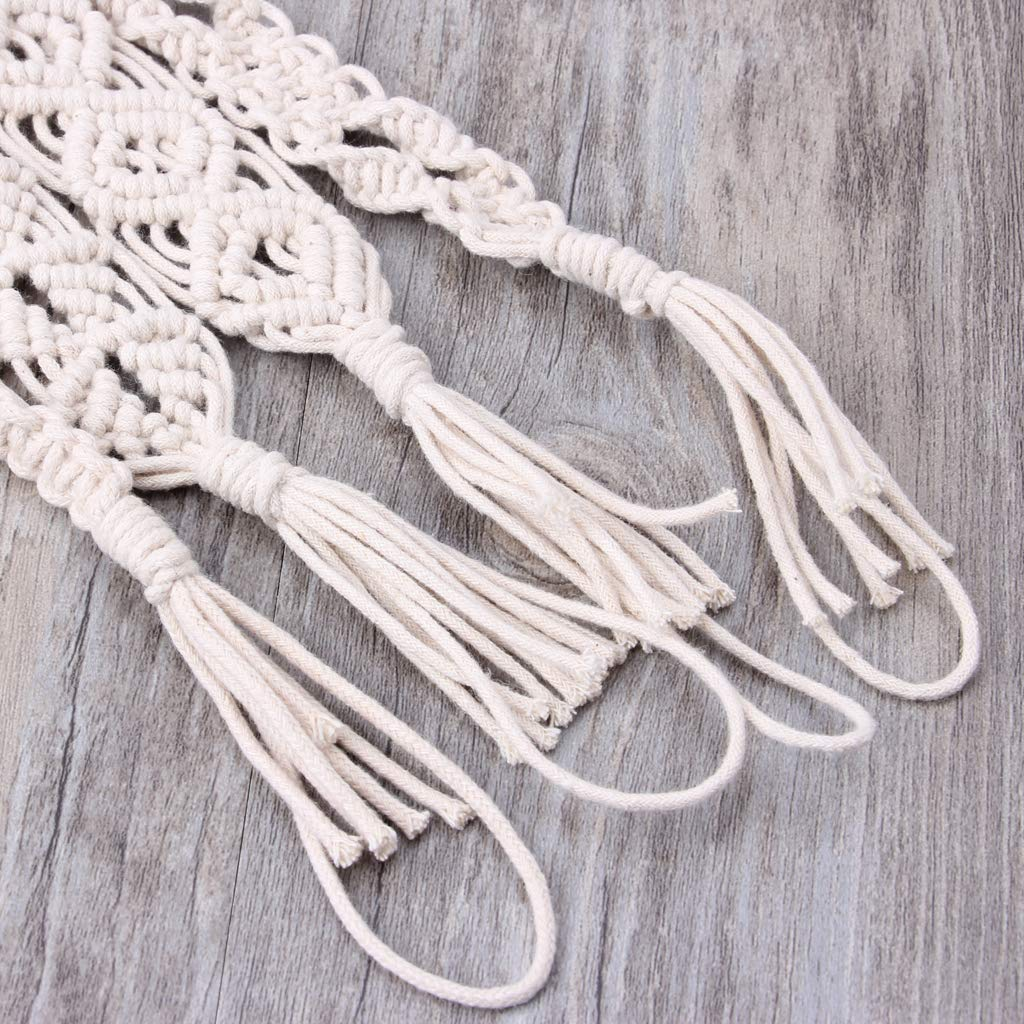 ❤ Chupete de algodón de ganchillo vintage con clip y borla ...