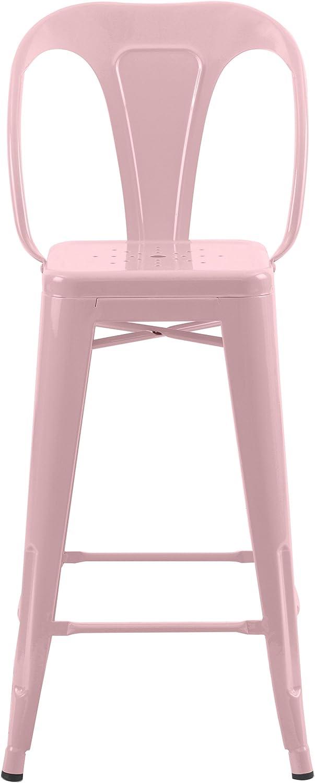 Rendez vous d/éco Chaise de Bar mi-Hauteur Indus Rose 66 cm Lot de 2