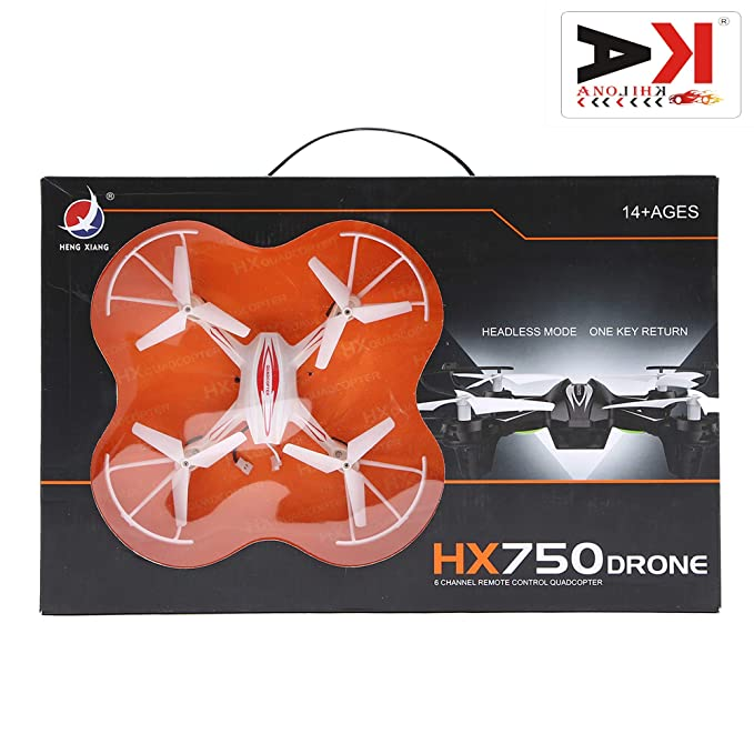 AK ANOLIHK ® HX750 Drone Quadcopter with Extra propreller ( Without Camera ) (Multicolour )( Free kinsmart car Worth 499/- )