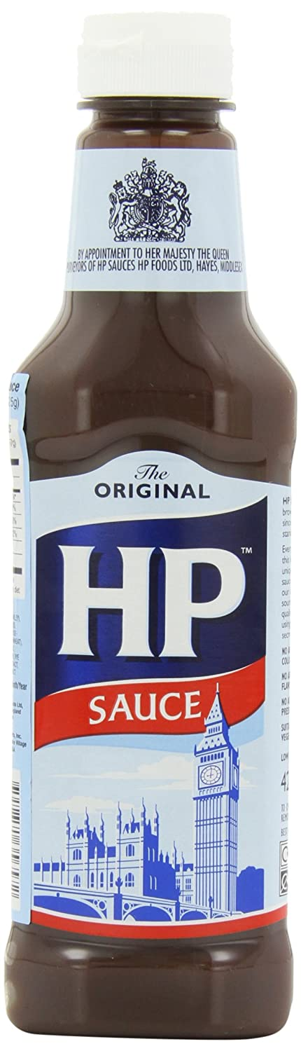 H P Sauce, 15-Ounce Plastic Bottles (Pack of 4)