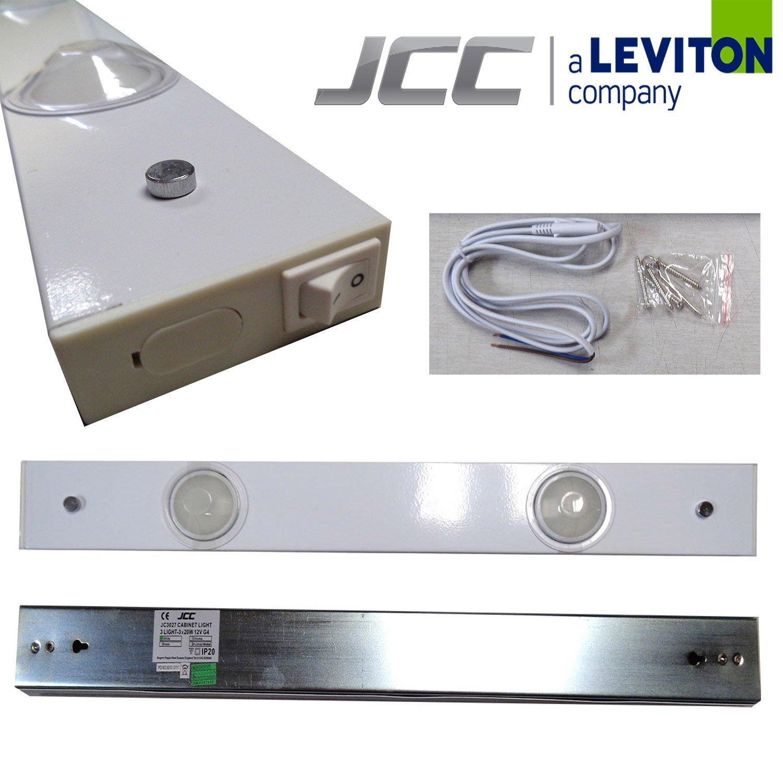 JCC JC3026WH Undershelf IP20 Twin Lightbar c/w Integral Transformer 2 x 20W G4 Pack Quty = 1
