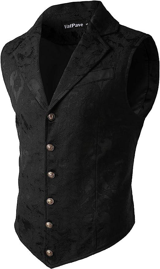 Men's Steampunk Vests, Waistcoats, Corsets VATPAVE Mens Victorian Suit Vest Steampunk Gothic Waistcoat $36.99 AT vintagedancer.com
