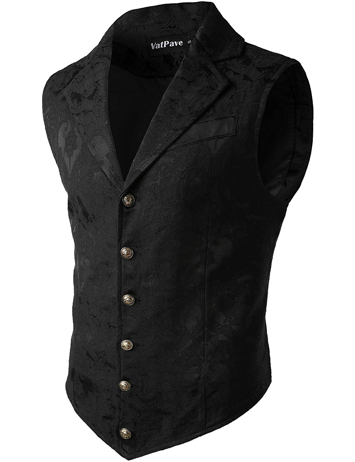 Victorian Men's Clothing, Fashion – 1840 to 1890s VATPAVE Mens Victorian Suit Vest Steampunk Gothic Waistcoat $32.99 AT vintagedancer.com