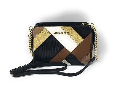 9b67e51ff Michael Kors Jet Set Item Adele Large East West Crossbody Black Multi:  Handbags: Amazon.com