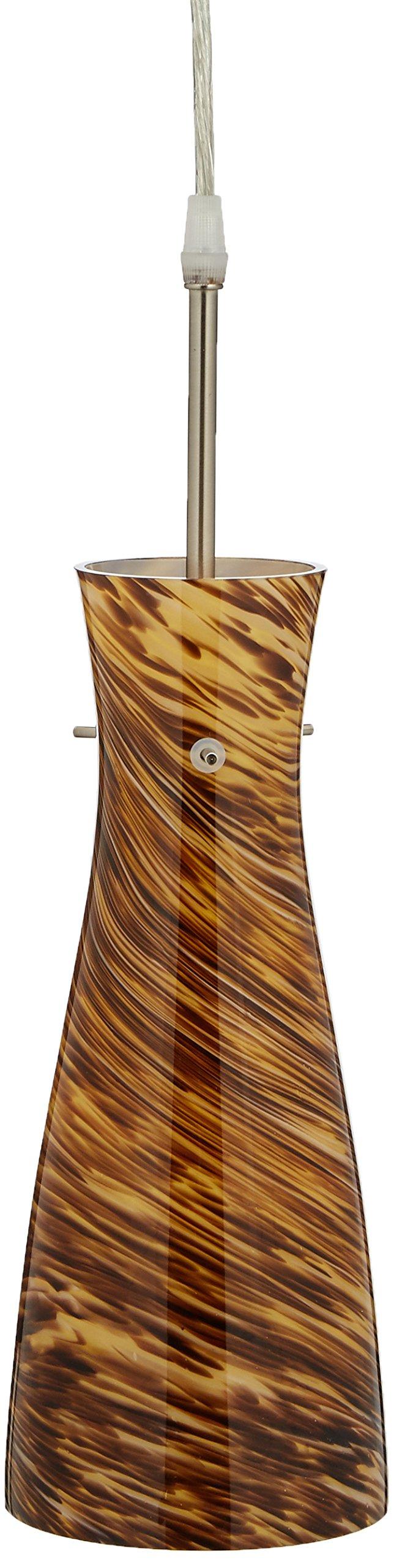 Lite Source LS-19197AMB Mona Pendant Lite, Amber Glass Shade