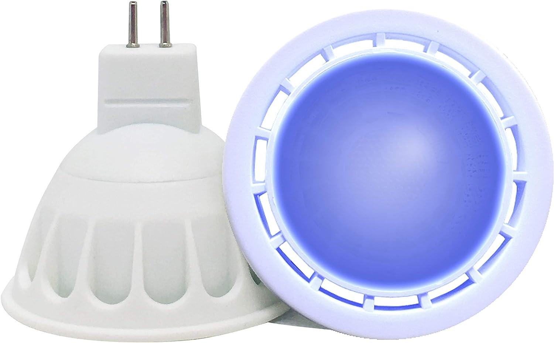 VARICART GU5.3 12V LED COB Bombilla Color Azul, 6W MR16 60° Ángulo Haz, 50W Halógeno Equiv. 500lm, Luz Especial Ambiental Decorativa Iluminación Fiesta (Pack de 1)