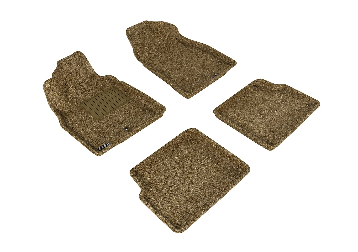 L1CH02122202 Classic Carpet 3D MAXpider Second Row Custom Fit All-Weather Floor Mat for Select Chevrolet HHR Models Tan
