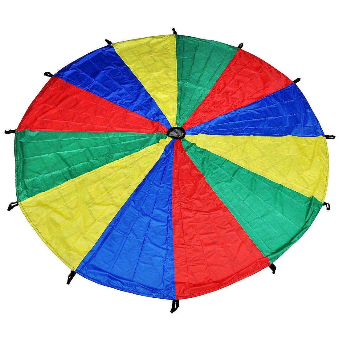GSI Kids Play Parachute Cooperative Play Upper Body Strength Training (12 Feet 12 Handles)