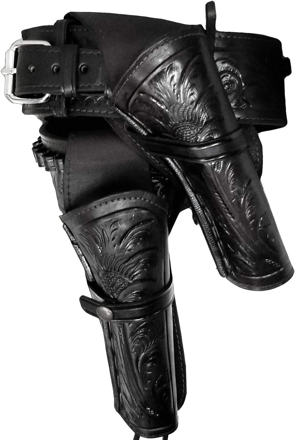 Modestone 357/38 High Ride RIGHT Cross Draw Double Holster Gun カウボーイベルト Rig Leather