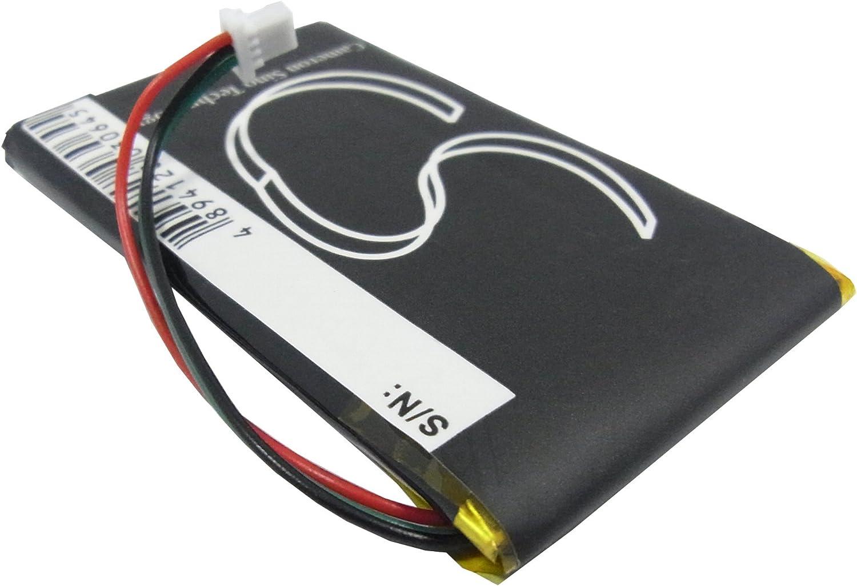 Schwarz 1250mAh // 4,6Wh 3,7V Li-Po Akku passend zu Garmin N/üvi 205