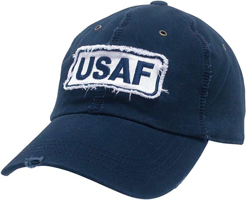 ee65b27f8cde6 Amazon.com  UNITED STATES US AIR FORCE USAF POLO STYLE BASEBALL CAP CAPS  HAT HATS GIANT STICH  Clothing