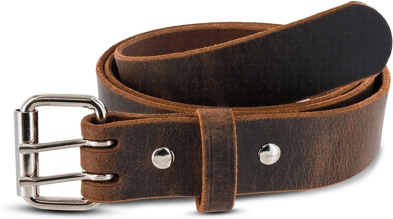 Men/'s Double Prong Leather Belt Hanks Legend USA Made Heavy Duty Belts
