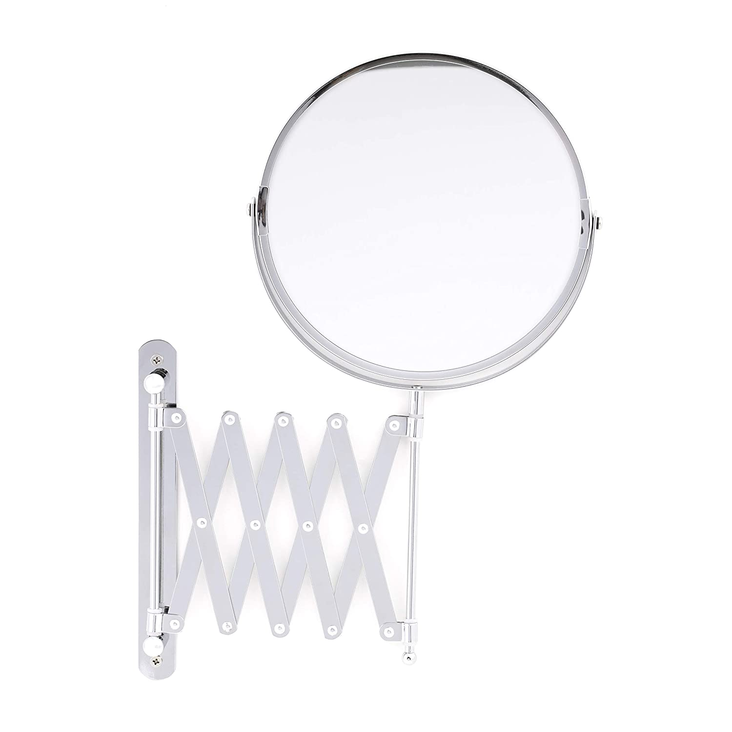 Royalford Double Sided Extending Wall Mounted Bathroom Mirror, Swivel and Length Adjustable Shaving Mirror