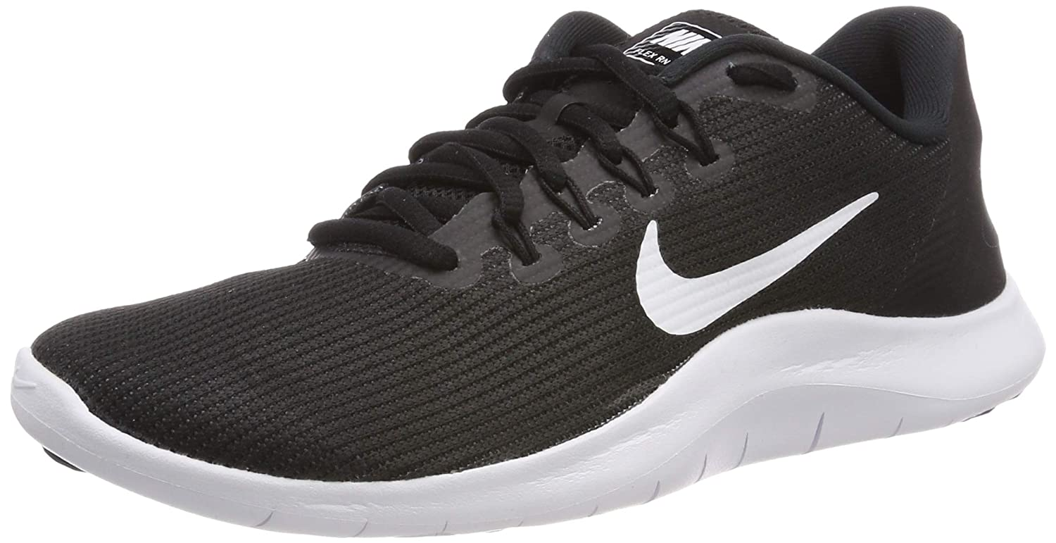 Nike Women's Flex RN 2018 Running Shoe Black/White Size 8 M US