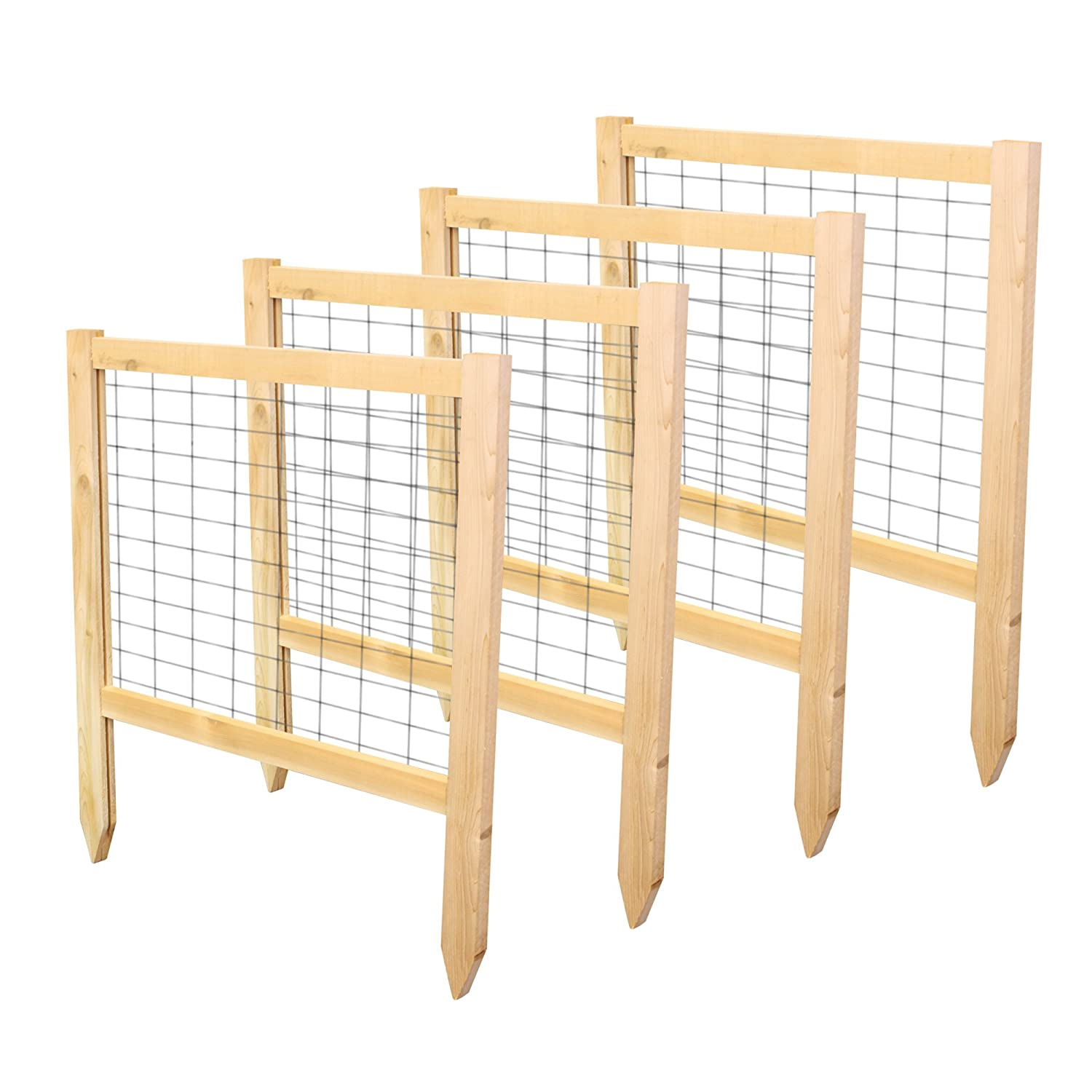 Greenes Fence 2 Critter Guard Cedar Garden Fence 4 Pack , 23.5