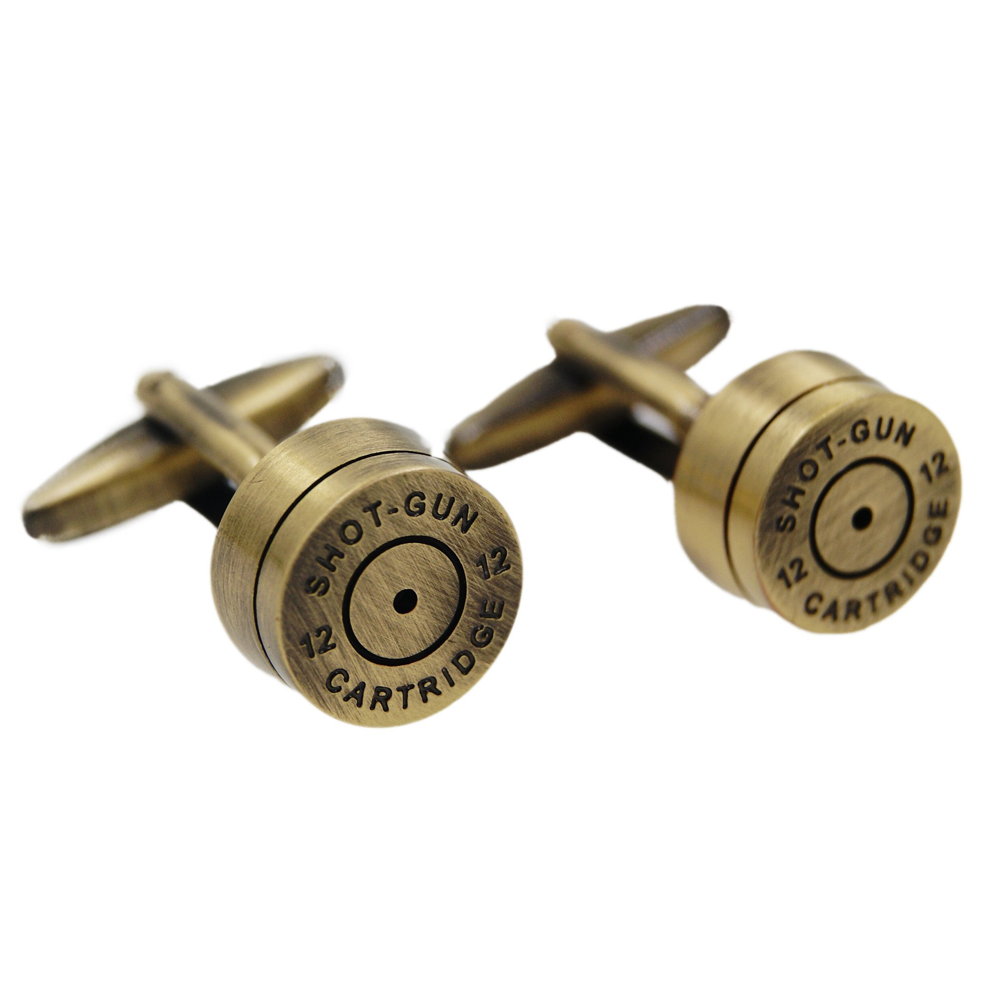 RXBC2011 Men's Bronze Bullet Style French Shirts Cufflinks 1 Pair Set