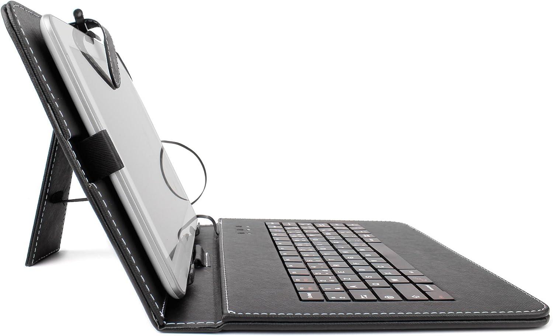 DURAGADGET Etui Aspect Cuir Rouge avec Clavier int/égr/é AZERTY Stylet Tactile Bonus pour tablettes Huawei Media Pad 10 Link et Kocaso m1070 10,1 fran/çais