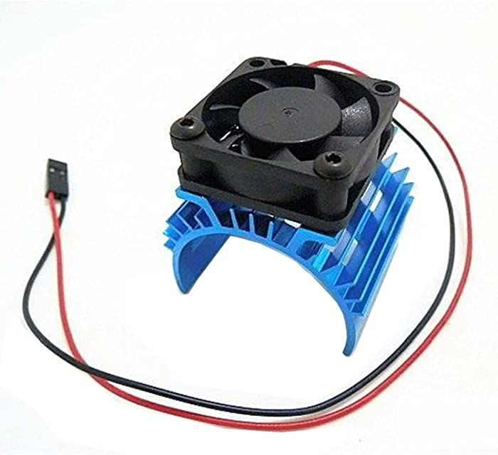 Hobbypower Hobbypower Alloy Heatsink w/ 5v Cooling Fan for 1/10 Car 540 3650 Size Motor(Blue)