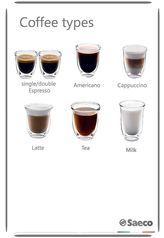Saeco Incanto HD8915/77 - Cafetera (Independiente, Máquina espresso, 1,8 L, Granos de café, De café molido, Molinillo integrado, Acero inoxidable): ...